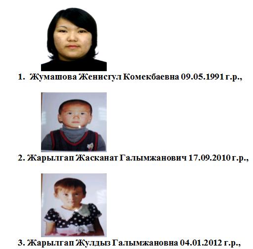 пропавшие мать и дети байганинский