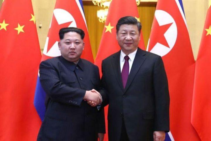 """Ким Чен Ын и Си Цзиньпин. Источник: """"Казинформ"""""""