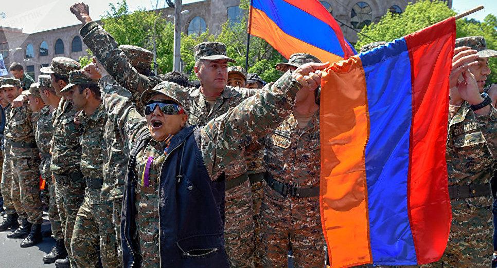 Протесты в Ереване, Армения. Фото: Sputnik