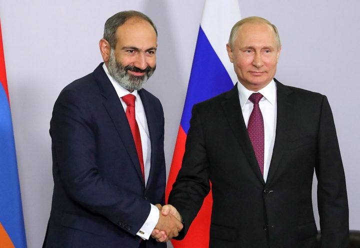 Никол Пашинян и Владимир Путин. Фото: ТАСС