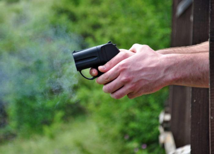 стрельба оса пистолет