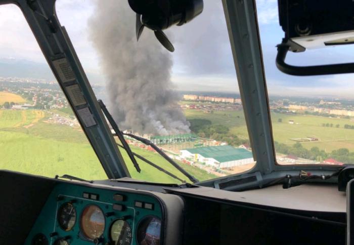 пожар на складах алматы