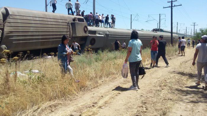 крушение поезда жамбылская область