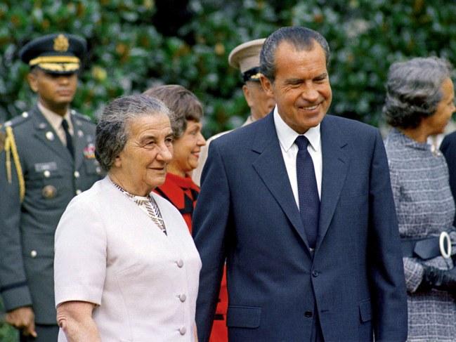 Голда Меир и Ричард Никсон
