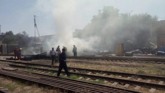 пожар на заводе