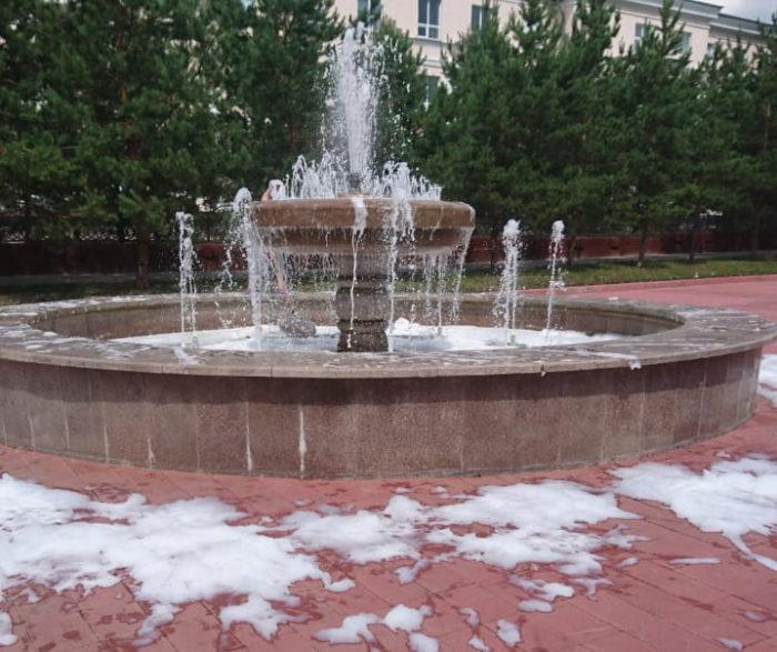 пена в фонтане