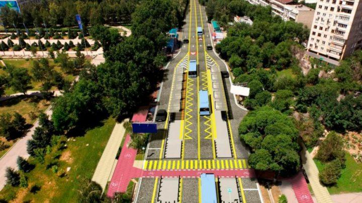 BRT на улице Тимирязева. Источник: Kolesa.kz