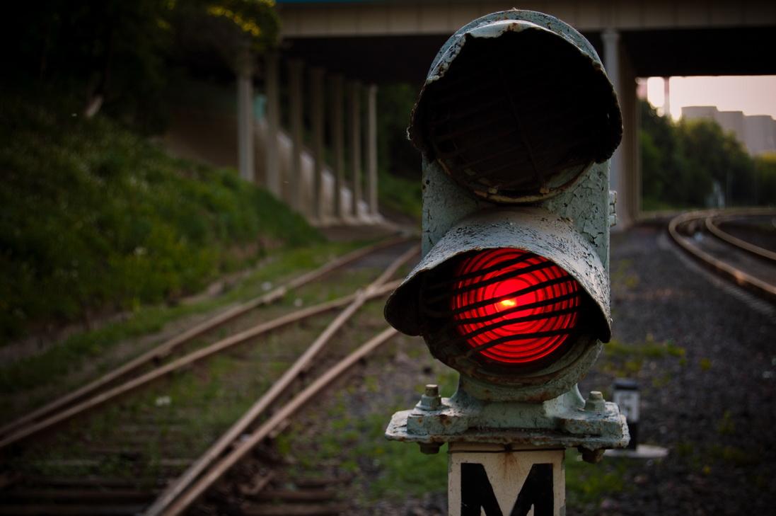 семафор поезд