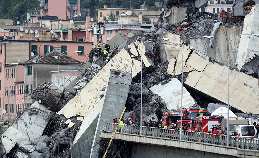 Обрушение моста, Генуя