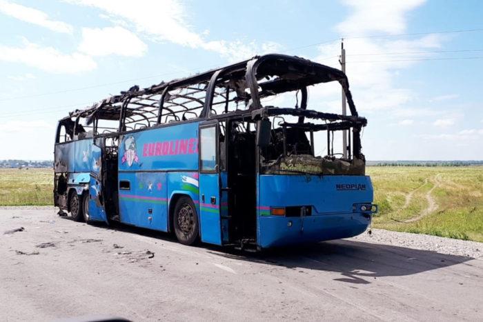 сгорел автобус алтайский край семей новосибирск