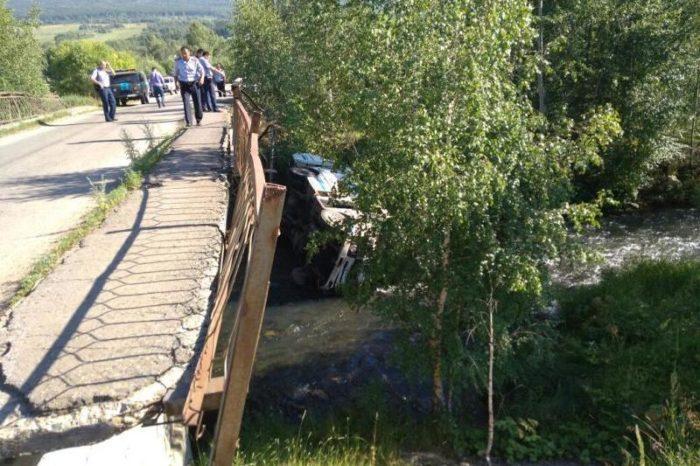 автобус упал в ручей риддер