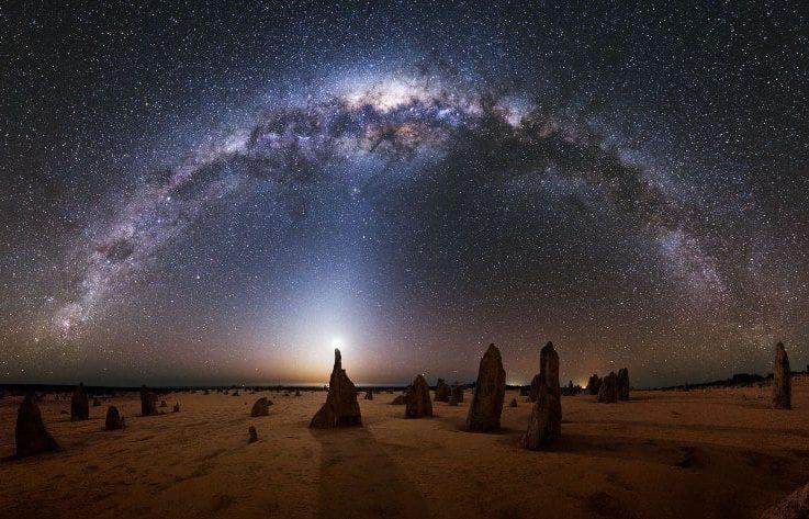 Млечный Путь на ночном небе. Источник: V-kosmose.com