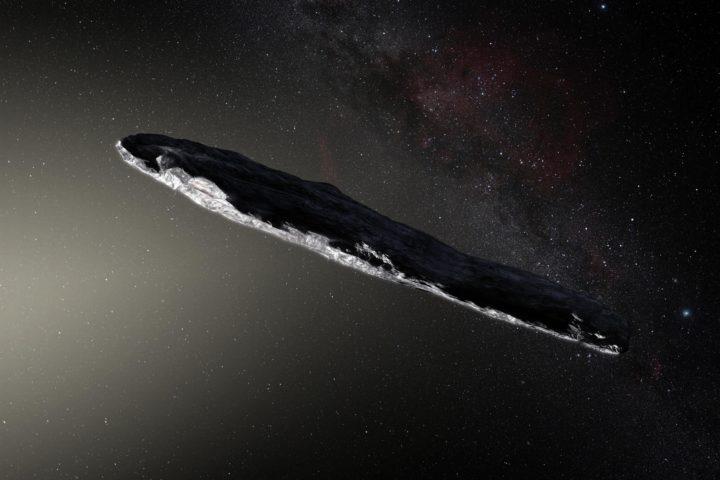 Астероид Оумуамуа в представлении художника. Источник: CC BY-SA 4.0