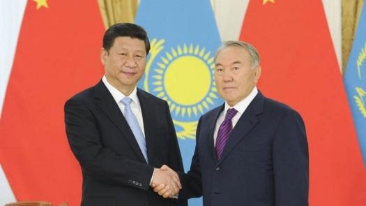 Си Цзин Пин и Нурсултан Назарбаев