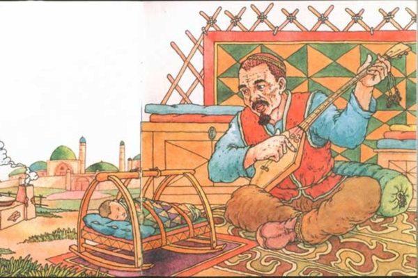 Казахские народные сказки в картинках семья известна