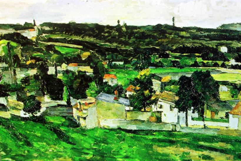 Сезанн, «Вид на Овер-сюр-Уаз»