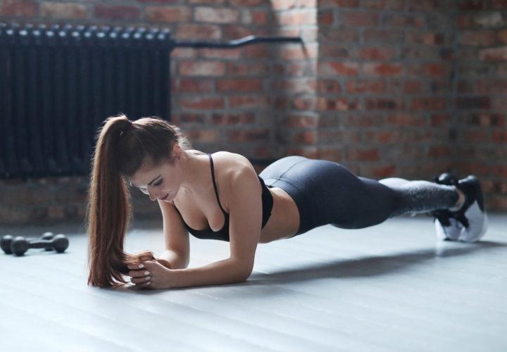 Девушка в планке, спорт
