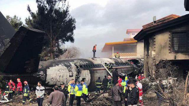 Крушение самолета в Тегеране