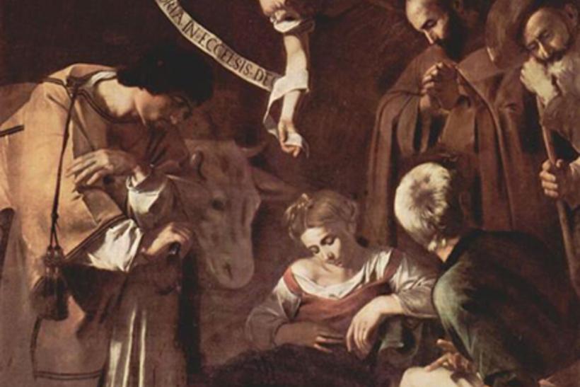 """Караваджо, """"Рождество со Святыми Франциском и Лаврентием"""""""