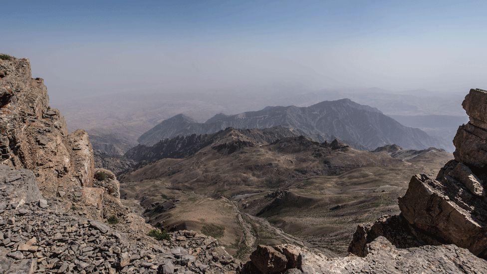 Гиссарский хребет, на котором находтся пещера Бой-Булак. Фото: BBC