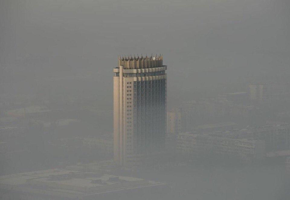 Смог Алматы, гостиница Казахстан