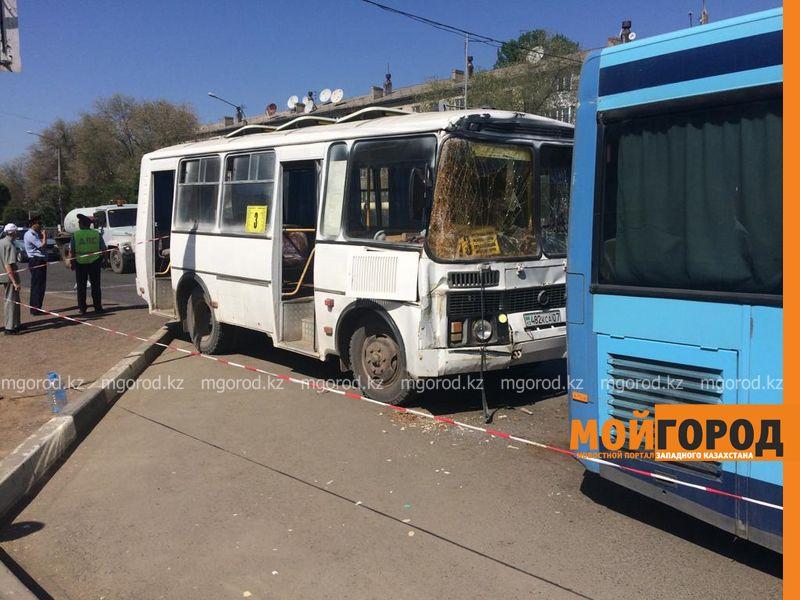 автобусы столкнулись в уральске