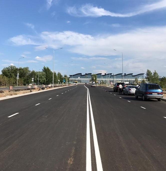 дорога в аэропорт Нур-Султана