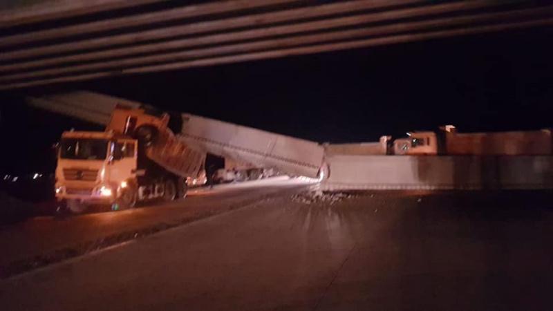 Строящийся мост рухнул в Павлодарской области
