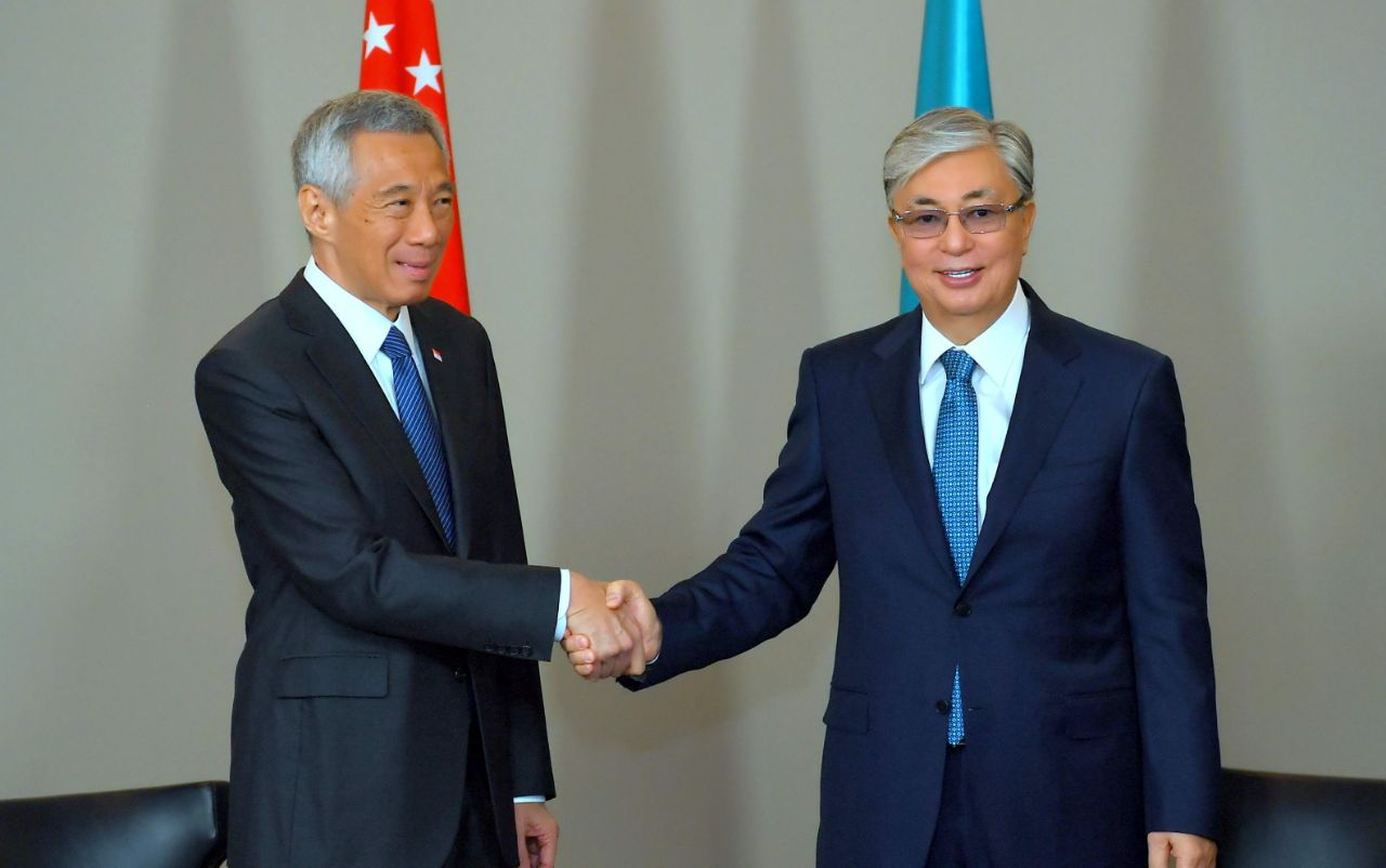"1ac756b2d6b9ab87ec71b4348e328f4e - Tokayev, Prime Minister of Singapore: ""look forward to seeing You in Kazakhstan"""