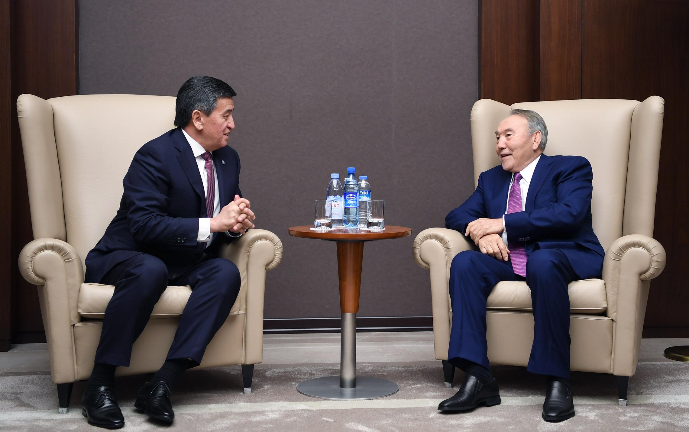 3aba04bd276a46be2d723a66eb93ceaf - Nursultan Nazarbayev met with Sooronbai Jeenbekov in Baku