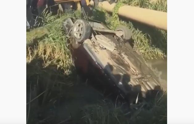 54f796687a6aca6cd677e55ed1a11758 - The car fell into the river in Shamalgan: two dead