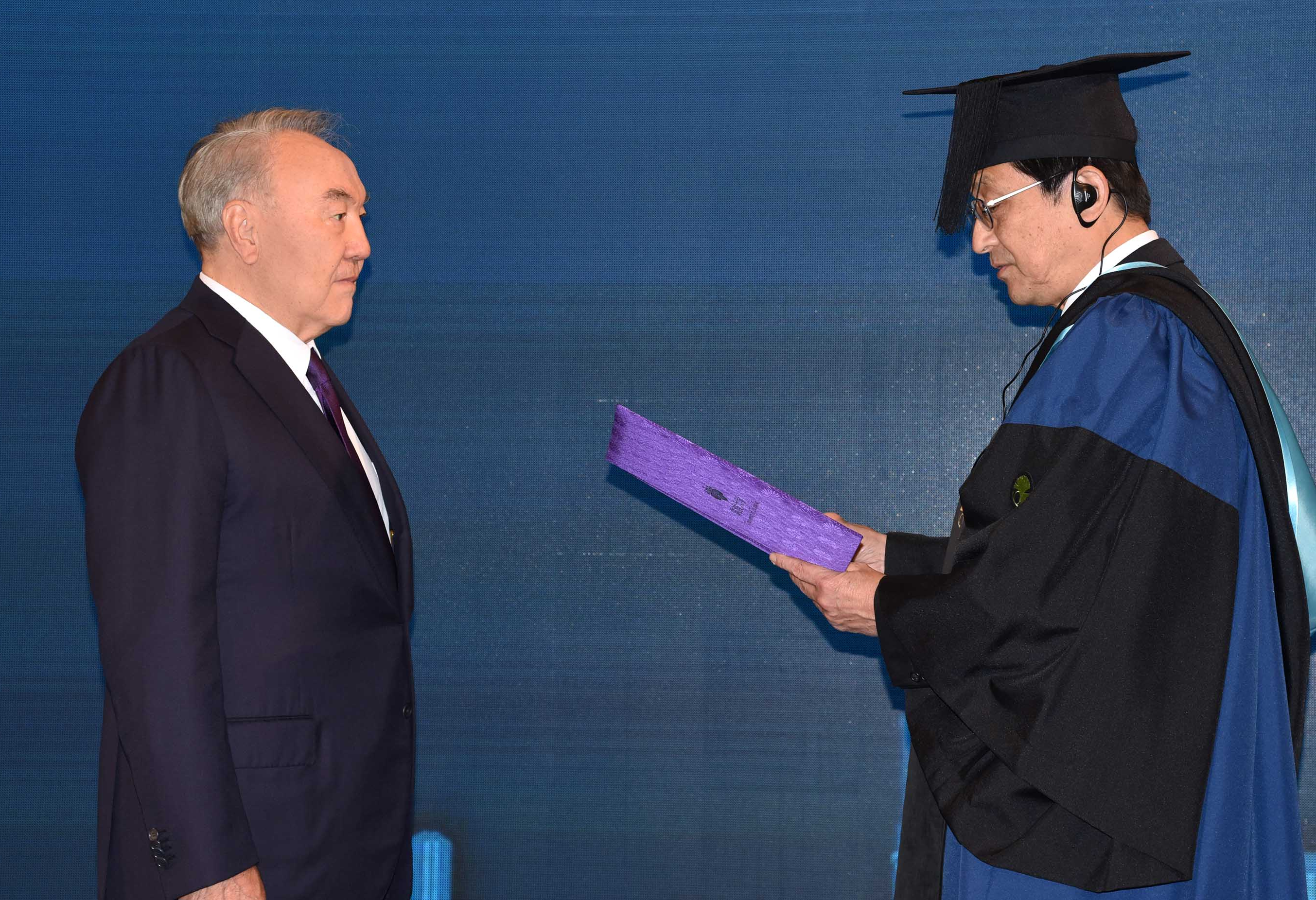 a3d2b2db0e09763715ee56fa5939c272 - Nazarbayev awarded the title of Honorary doctor of the University of Tsukuba