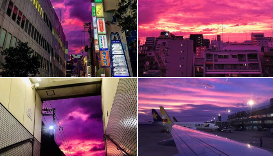 d5f4aedbcfaa9d91d75c383a9c53489d - Purple sky frightened the people of Japan