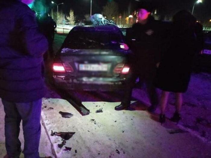 пьяный протаранил 6 машин в караганде