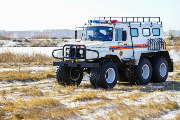 ed5e110e5c17a963c54b5c0aa389f365 600x400 - Rescuers on all-terrain vehicle was taken by paramedics to the patient in the Karaganda region