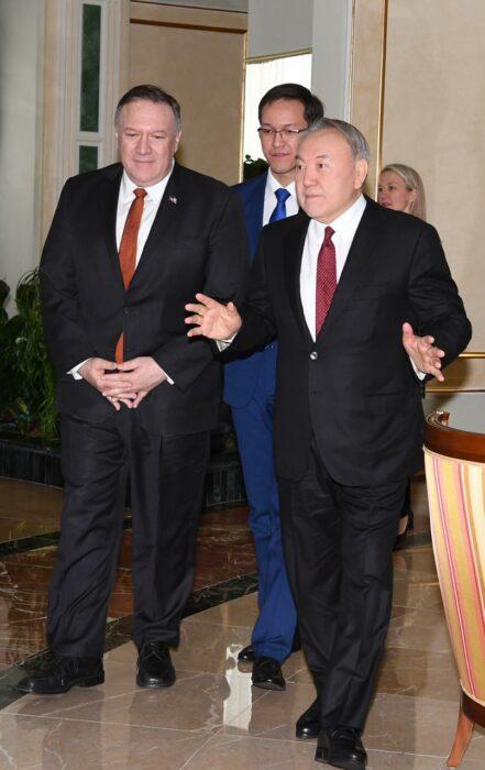 Назарбаев Помпео