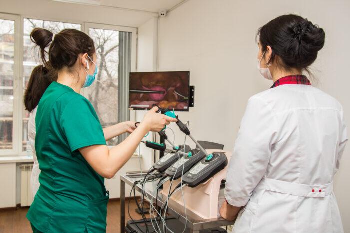 Отработка различных лапароскопических процедур